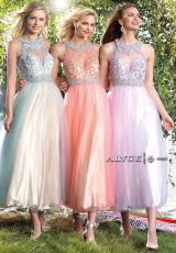 Alyce 6447.  Available in Coral/Champagne, Light Blue/Champagne, Lilac/White