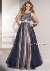 Alyce 6448.  Available in Champagne/White, Navy/Champagne, Red