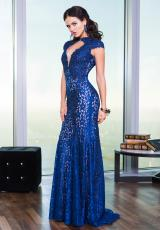 Jovani 20558.  Available in Navy/Nude, Teal/Nude