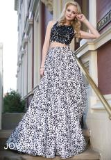 Jovani 25452.  Available in Black/Ivory, Green