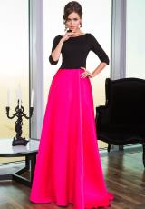 Jovani 24252.  Available in Black/Black, Red/Black