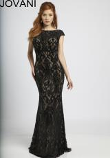 Jovani 98466.  Available in Black/Nude, Ivory/Nude