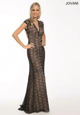 Jovani 20834.  Available in Navy/Nude