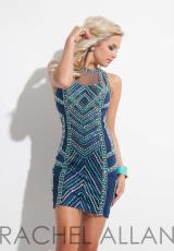 Rachel Allan 4028.  Available in Navy/Turquoise, Purple/Pink