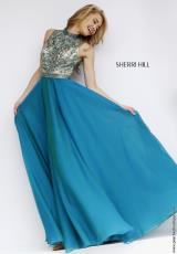 Sherri Hill 1964.  Available in Gunmetal, Jade, Royal, Ruby