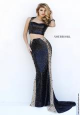 Sherri Hill 32298.  Available in Black/Nude
