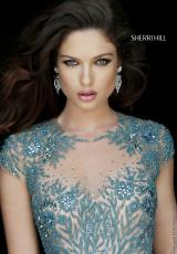 Sherri Hill Short 1957.  Available in Black, Gunmetal, Ivory, Jade, Royal, Ruby