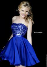 Sherri Hill Short 1961.  Available in Black, Jade, Peacock, Royal, Ruby
