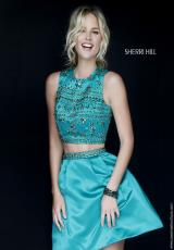 Sherri Hill Short 32269.  Available in Emerald, Navy, Purple, Red, Royal