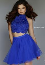 Sherri Hill Short 32280.  Available in Emerald, Gunmetal, Navy, Red, Royal
