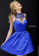 Sherri Hill Short 32288.  Available in Emerald, Fuchsia, Ivory, Purple, Red, Royal