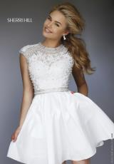 Sherri Hill Short 32317.  Available in Black, Ivory