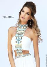 Sherri Hill 11247.  Available in Black/Multi, Ivory/Multi