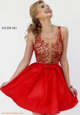 Sherri Hill Short 9755.  Available in Red
