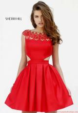 Sherri Hill Short 9756.  Available in Black, Red