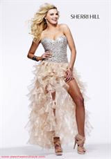 Sherri Hill 2463.  Available in Fuchsia/Fuchsia, Ivory/Gold, Pink/Silver, Royal/Royal