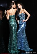 Sherri Hill 2907.  Available in Aqua, Black/Dark Purple, Fuchsia, Green, Lilac, Nude, Silver