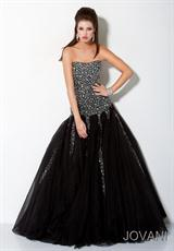 Jovani 3361.  Available in Black/Silver