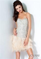 Jovani Cocktail 4437.  Available in Sand