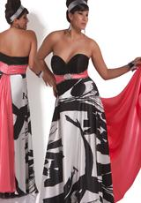 Cassandra Stone II Plus Size 4499K.  Available in Black/White/Coral