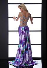 Jasz Couture 4539.  Available in Purple/Print