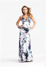 Faviana 6931.  Available in White/Royal, White/Royal Hand-Painted Print