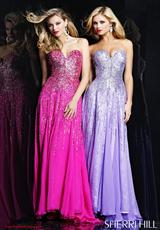 Sherri Hill 8427.  Available in Fuchsia, Lilac, Peach, Pink, Turquoise