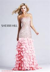 Sherri Hill 8434.  Available in Lilac, Peach, Pink, Strawberry