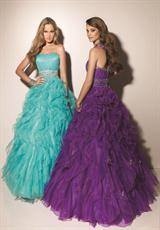 Deep Aqua and Bright Purple