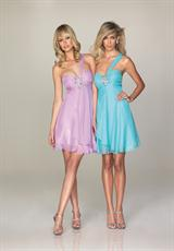 Evenings By Allure A467.  Available in Lilac, Red, Turquoise, White