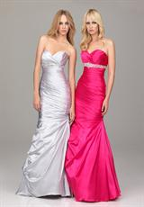 Evenings By Allure A512.  Available in Fuchsia, Silver