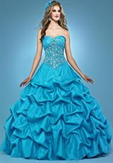 Landa Quinceanera AQ05.  Available in Bright Yellow, Caribbean, Lipstick, Peony, Red