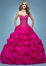 Landa Quinceanera AQ06.  Available in Bright Yellow, Lipstick, Peony, Red