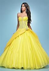 Landa Quinceanera AQ08.  Available in Bright Yellow, Lipstick, Peony, Tiffany blue