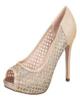 Blossom-Footwear Barbara-7.  Available in Nude Sparkle, Silver Sparkle