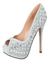 Blossom-Footwear Carina-2.  Available in Silver Sparkle