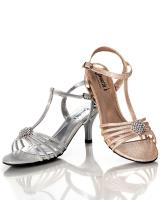 Sweetie's Shoes Colleen.  Available in Champagne, Silver