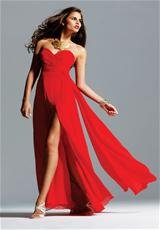 Faviana 6428.  Available in Black, Forest Green, Ivory, Navy, Plum, Red, Royal, Tea Rose, Tiffany Blue