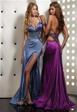 Jasz Couture 4357.  Available in Orange, Periwinkle, Purple