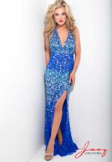 Jasz Couture 4906.  Available in Blue, Navy, Nude/Turquoise, Royal Blue, White/ Multi