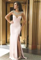 Jovani 99085.  Available in Black/Nude, Blush/Nude, Red/Nude