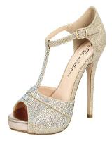 Blossom-Footwear Kimi-19.  Available in Nude Sparkle, Silver Sparkle