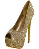 Lasonia D4886.  Available in Black Glitter, Champagne Glitter, Pewter Glitter, Silver Glitter