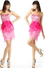 MacDuggal Cocktail 2593M.  Available in Aqua, Hot Pink, White