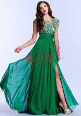 MacDuggal 10008M.  Available in Electric Pink, Emerald, Nude/Silver