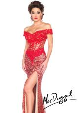 MacDuggal 10012M.  Available in Black/Nude, Nude/Silver, Red/Nude