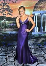 Precious Formals P51001.  Available in Enticing Purple, Light Caribbean, Party Pink, White