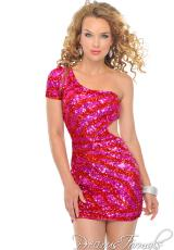 Precious Formals P8871.  Available in Fuchsia/Red, Nude/Gold