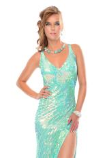 Precious Formals P9032.  Available in Crystal New Mint, Crystal Orange