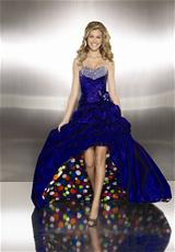 Mori Lee 8708SP.  Available in Black/Confetti, Purple/Confetti